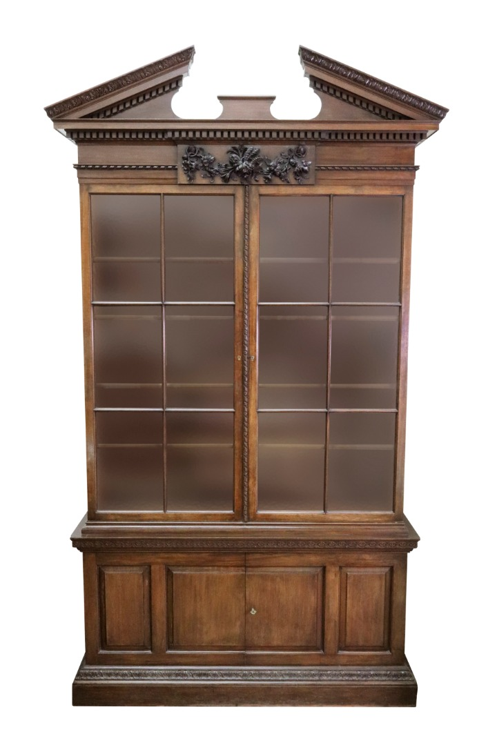 A George II style mahogany bookcase in... Image