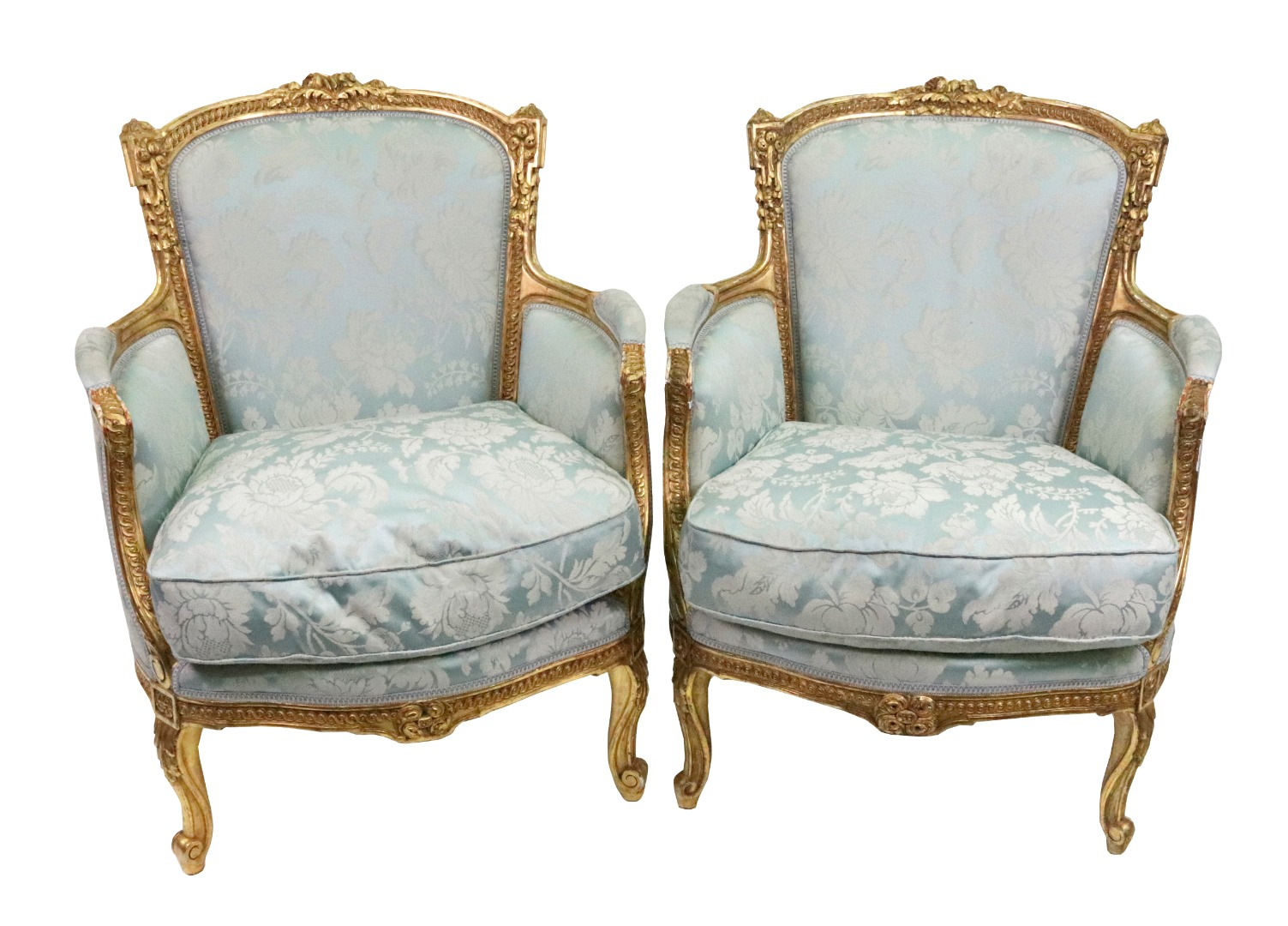 A pair of Louis XV style giltwood frame... Image
