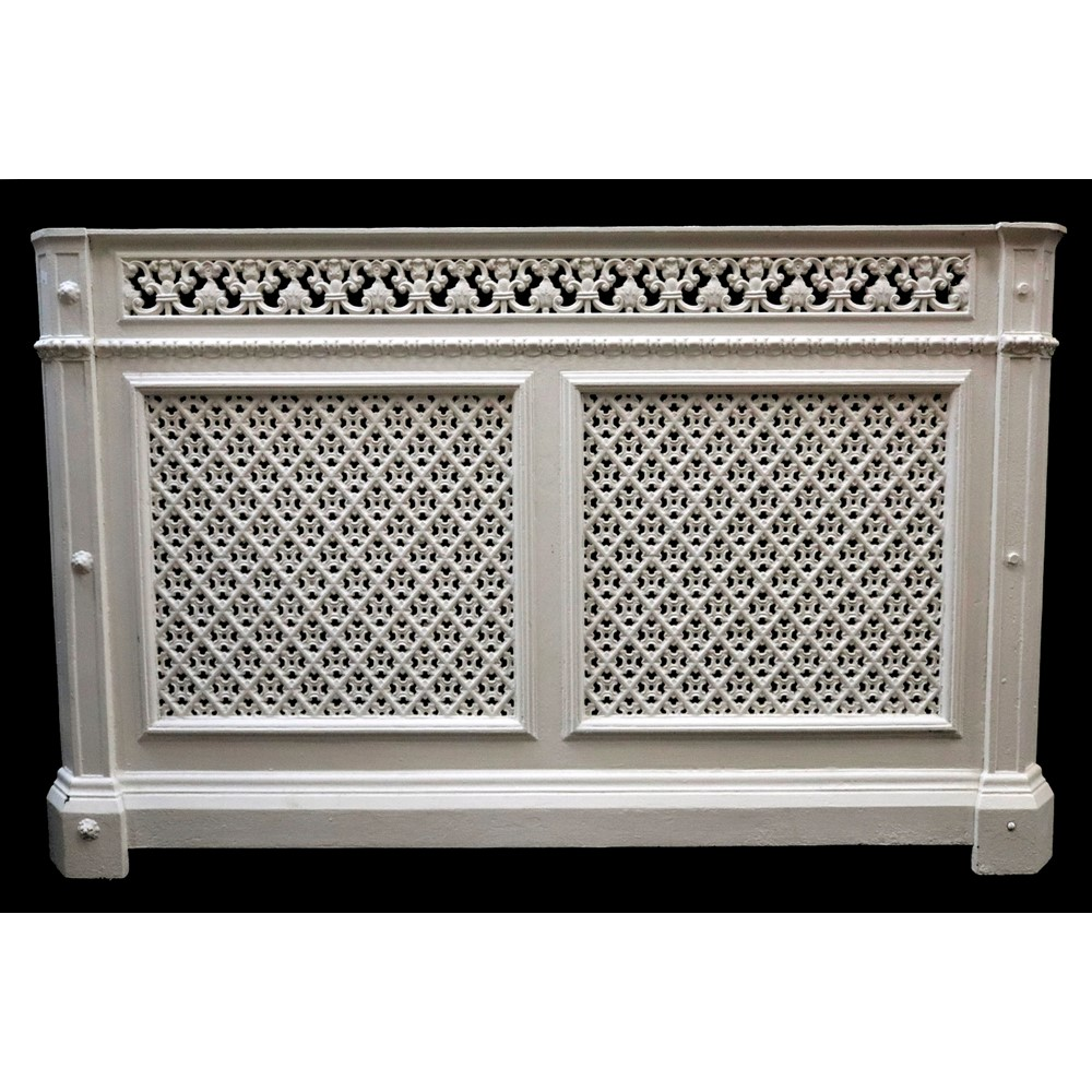 A white painted cast iron radiator... Image