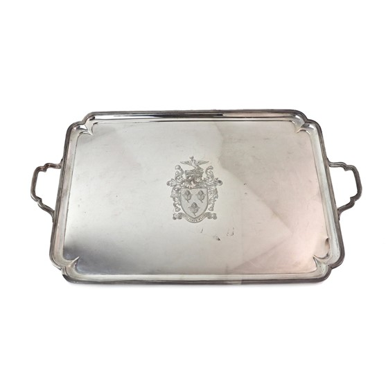 A George III style rectangular silver... Image