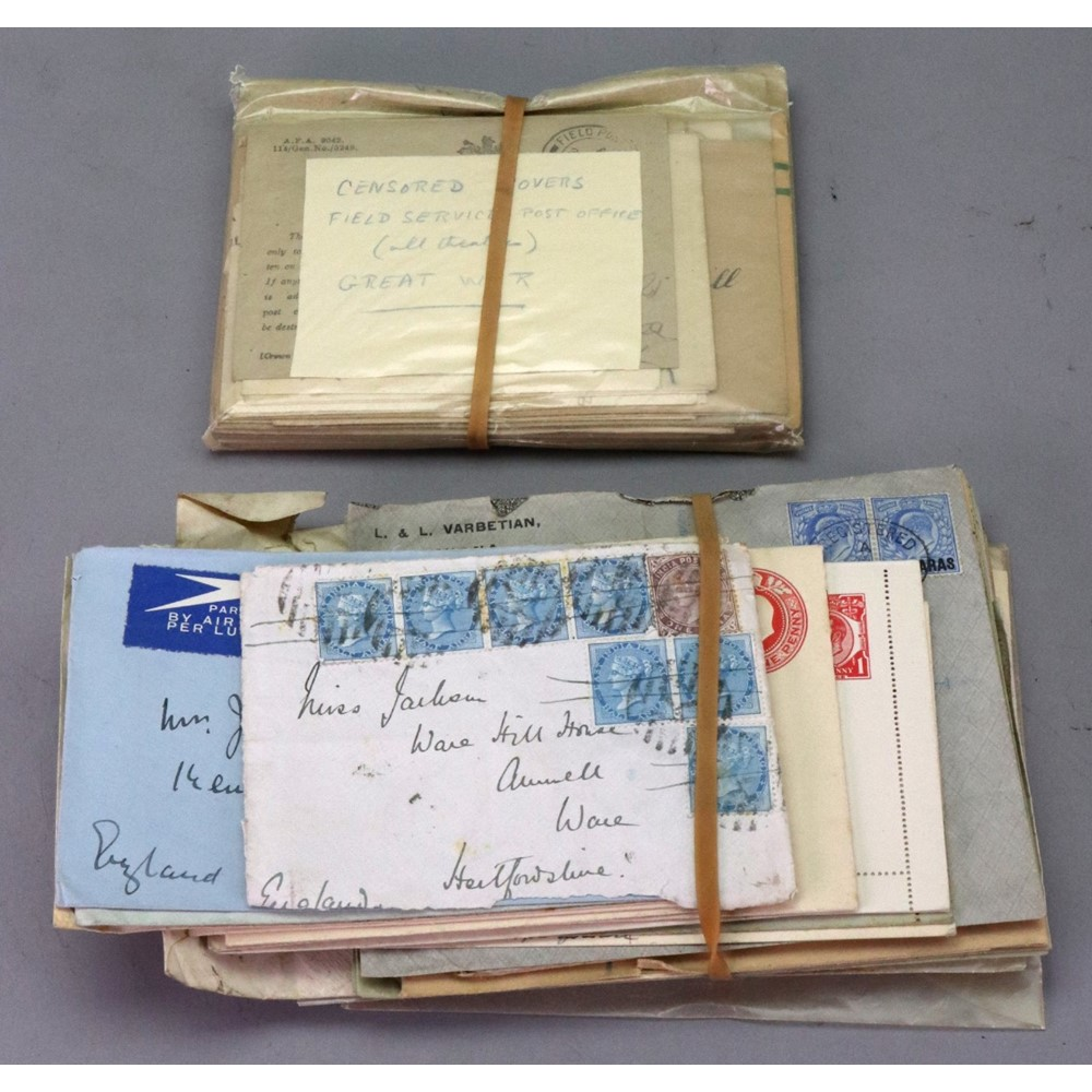 A selection of covers and cards in a... Image