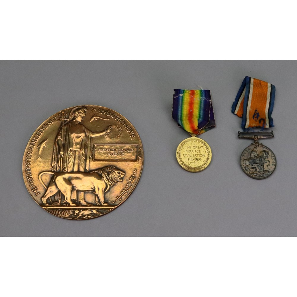 A First World War medal, Victory medal... Image