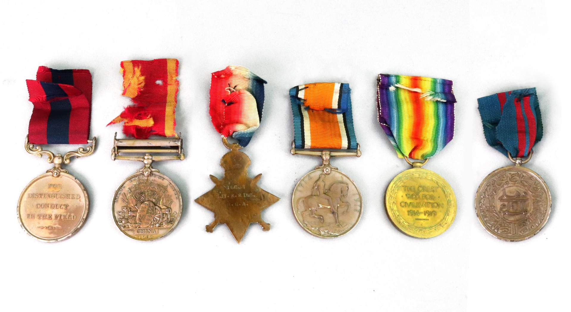 A First World War D.C.M group of four... Image