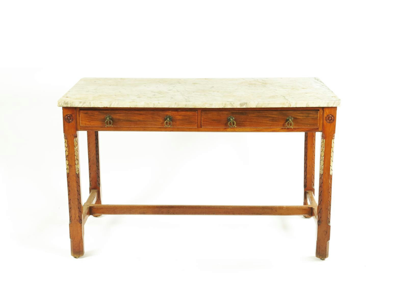 A Holland Sons Walnut Table With Marble Top After A Design By  # Augustus Pugin Muebles