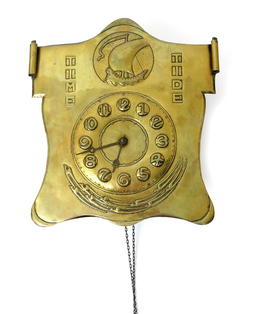 Time and Tide a brass wall clock designed by Peter Wylie Davidson ...