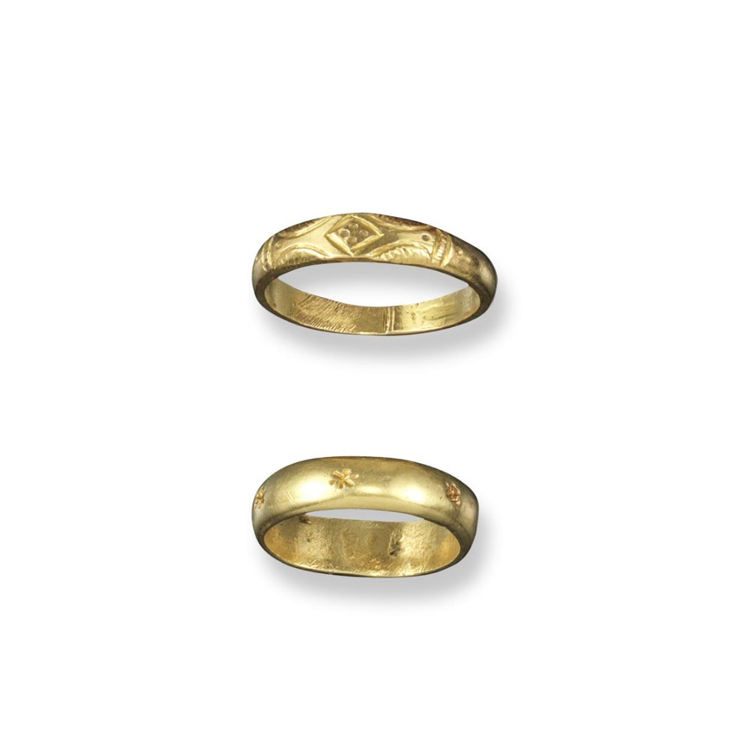hammered set rustic century gold wedding ring unique rings yellow products