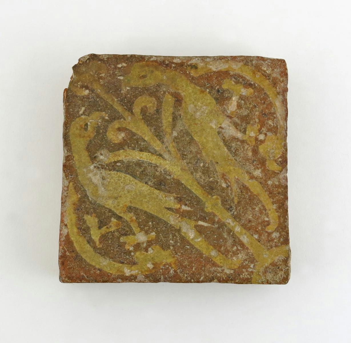 A large medieval encaustic floor tile c13th century lot 221 english and european ceramics and glass lot 221 dailygadgetfo Images