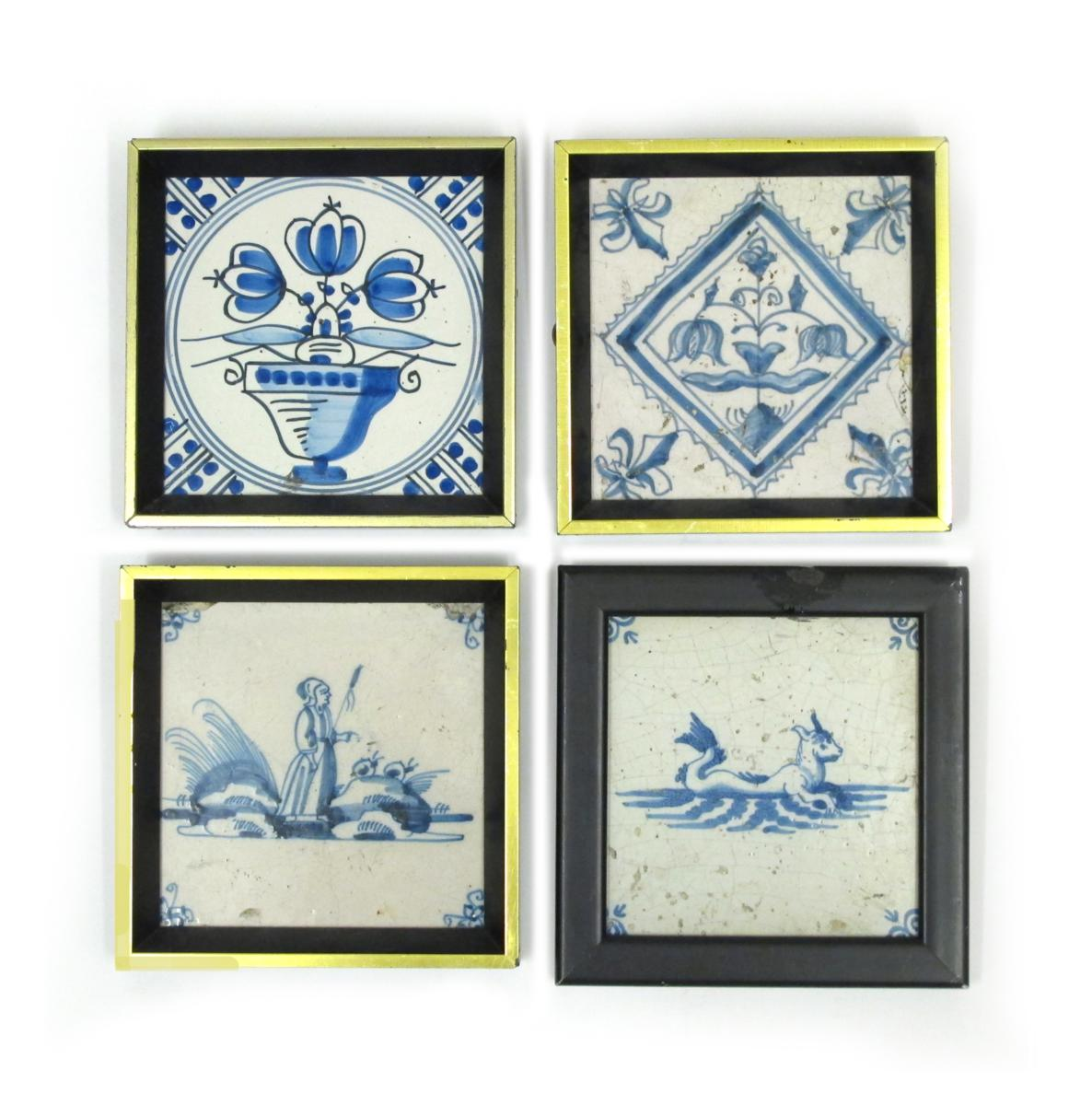 Four delft tiles 17th century and later lot 305 english english european ceramics glass lot 305 dailygadgetfo Images